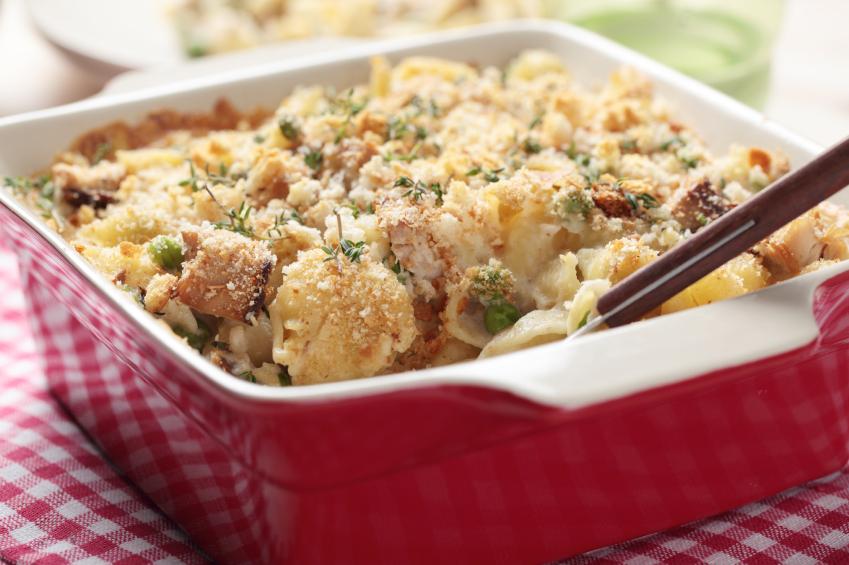close up of Tuna casserole