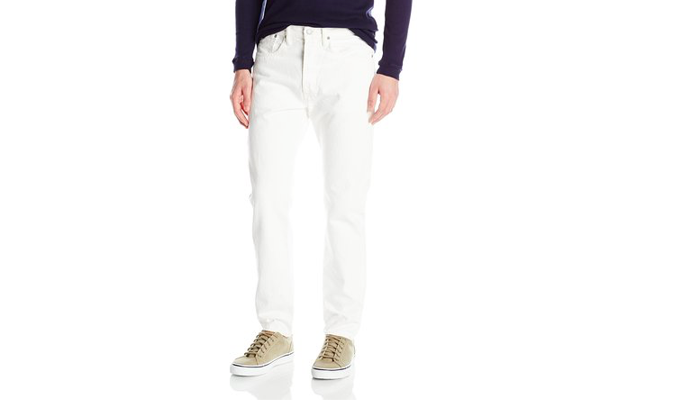 White Levi's 501 jeans at Amazon