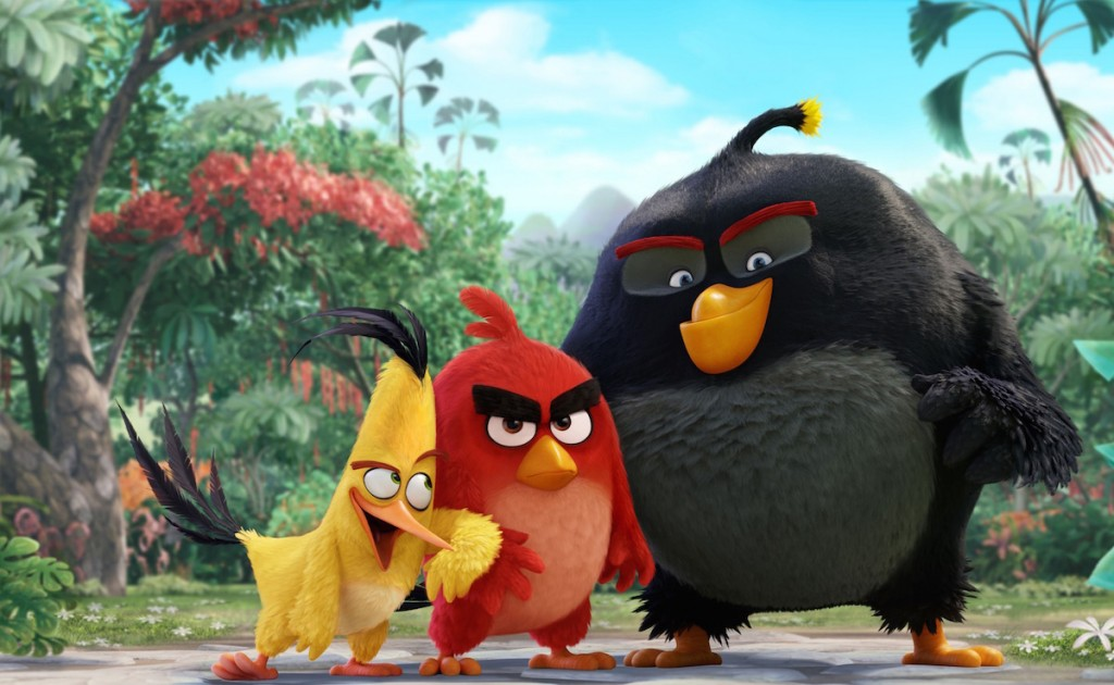 Angry birds in 'Angry Birds'