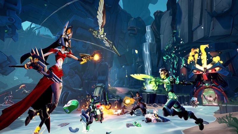 Heroes versus villains in Battleborn.