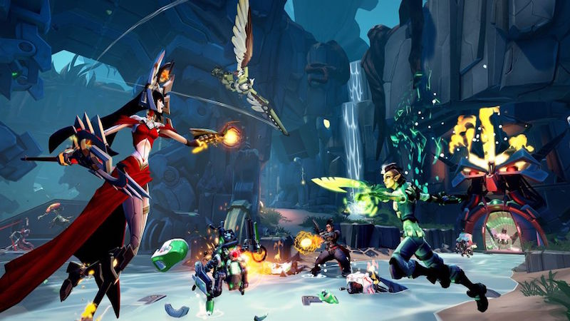 Heroes versus villains in Battleborn.