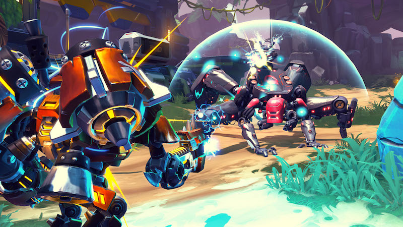 Battleborn heroes go up against ferocious enemies.