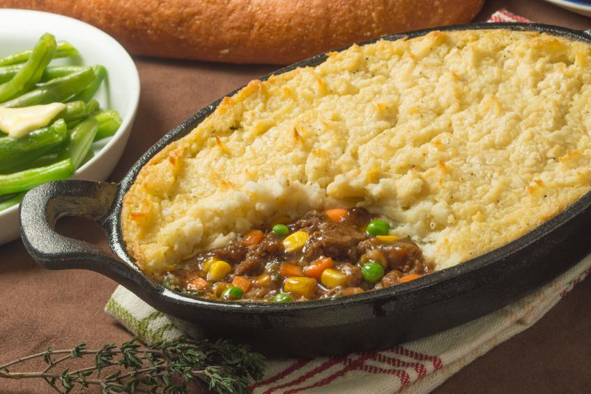 close up of beef shepherd's pie