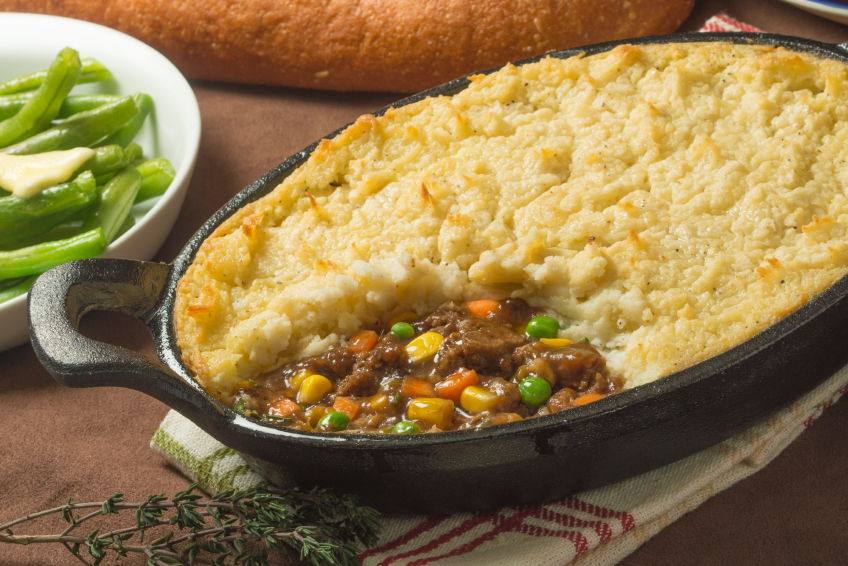 close up of beef shepherds pie