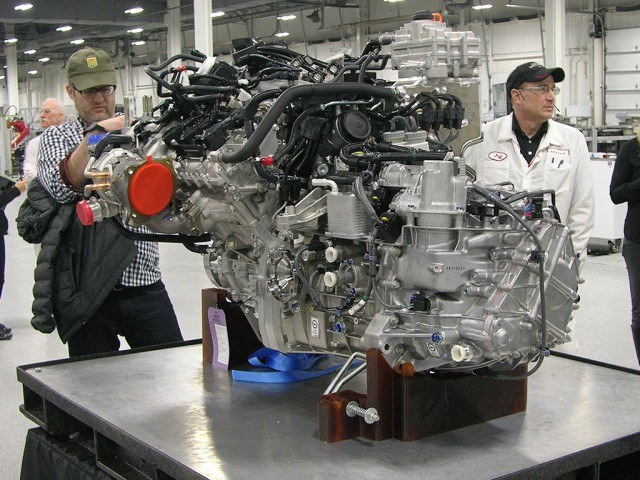 Honda twin-turbo NSX engine