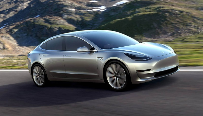 Tesla Model 3 in gray