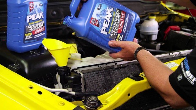 Add Antifreeze | Source: PEAK Antifreeze & Motor Oil via Facebook