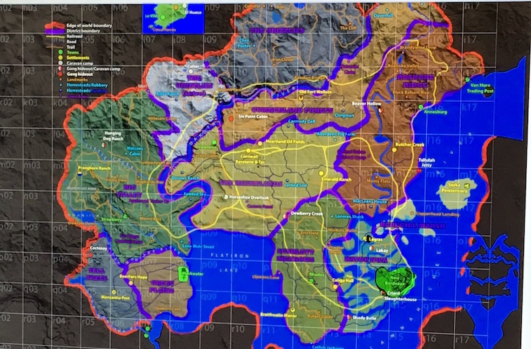 A purported leak of the map for a 'Red Dead Redemption' prequel.