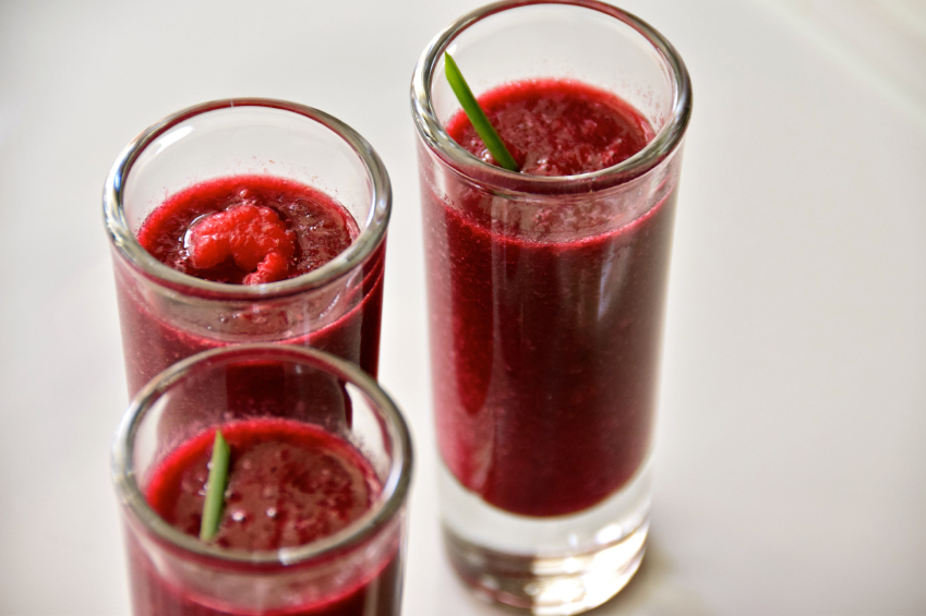 3 glasses of strawberry smoothies