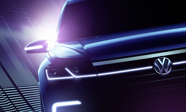 A teaser for a VW SUV concept.