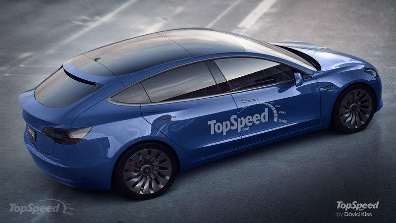 Tesla Model 3 hatchback rendering