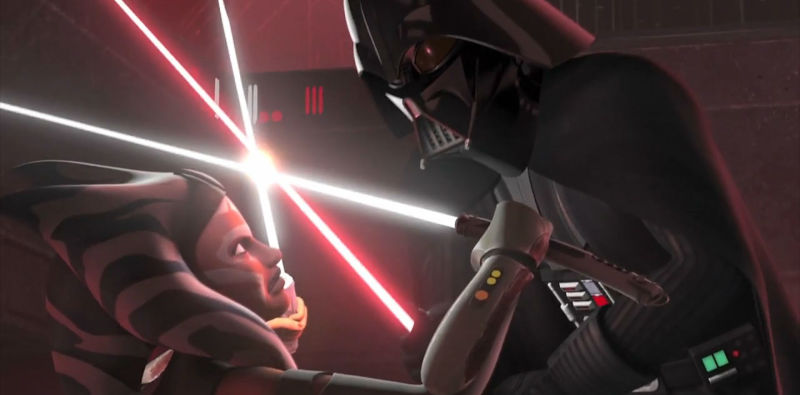 Darth Vader and Ahsoka Tano - Star Wars Rebels Finale