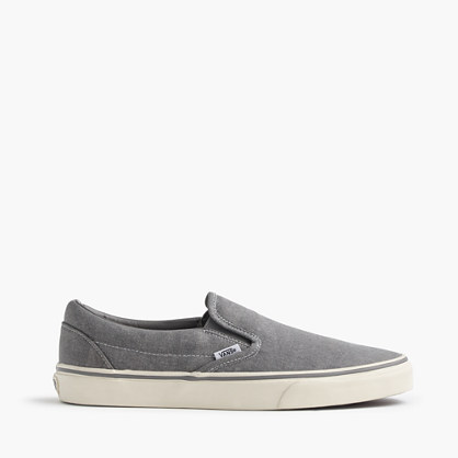 Canvas slip-on plimsolls