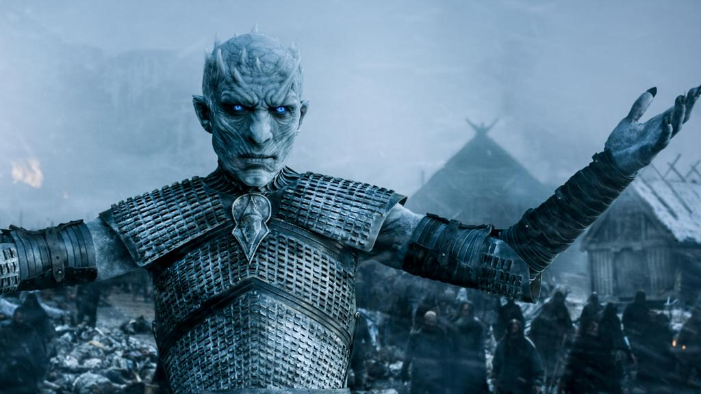 A White Walker holds out both his arms