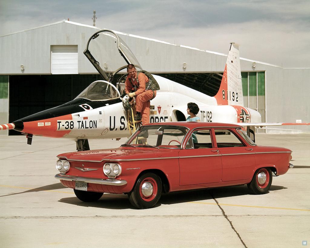 1960 chevrolet corvair deluxe 700 series 4 door sedan