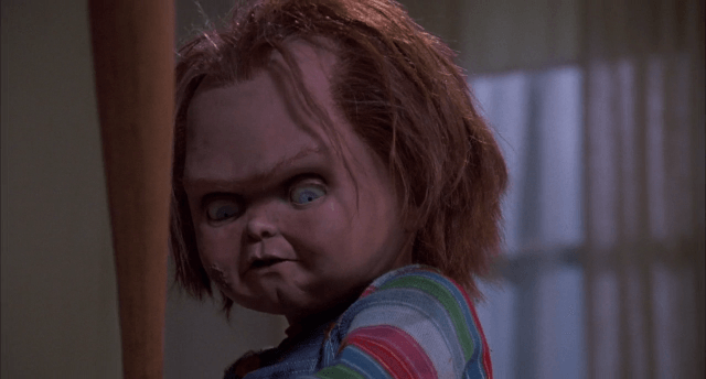Chucky, a doll possessed by an evil spirit, as seen in Child's Play