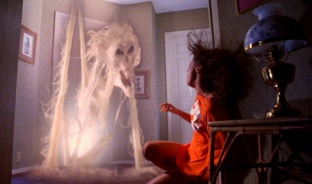 A demonic ghost threatens Diane Freeling (JoBeth Williams) in a scene from 'Poltergeist.'