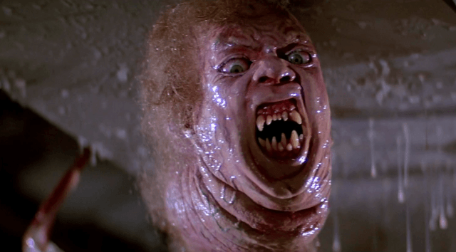 Norris' assimilated head causes all kinds of horror in a scene from John Carpenter's <em>The Thing</em>.