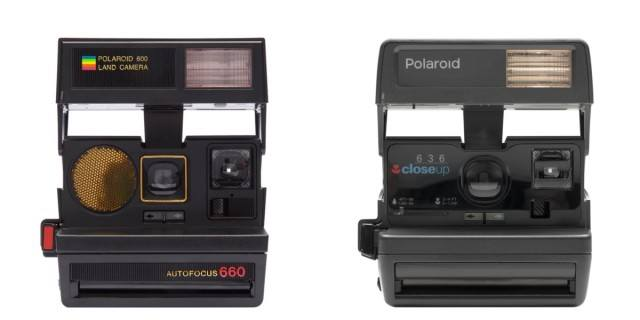 600-type Polaroid cameras from The Impossible Project