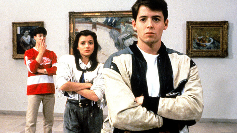 Alan Ruck, Mia Sara, and Matthew Broderick in Ferris Bueller's Day Off