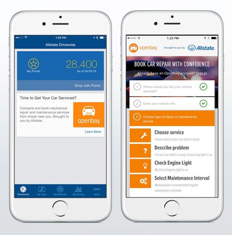 Openbay on smartphone