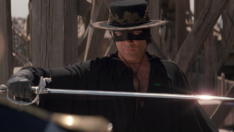 Antonio Banderas in The Mask of Zorro, best superhero movies