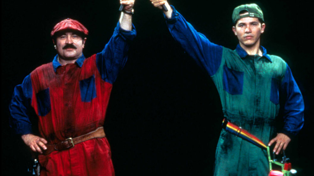 Bob Hoskins and John Leguizamo in Super Mario Bros.
