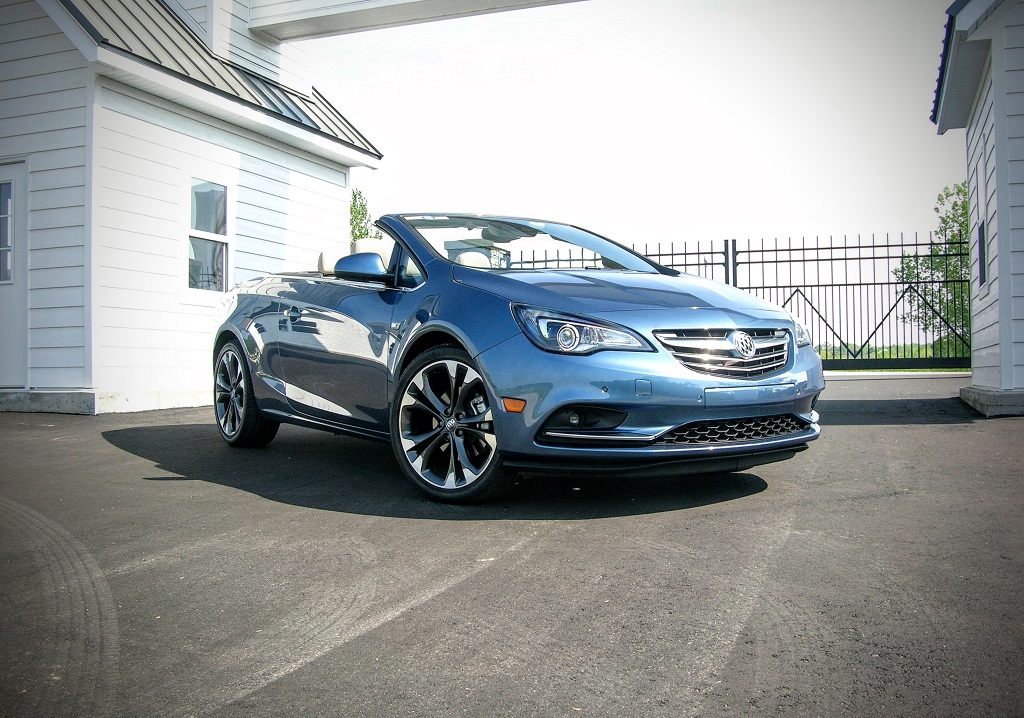 Buick Cascada convertible with the top down