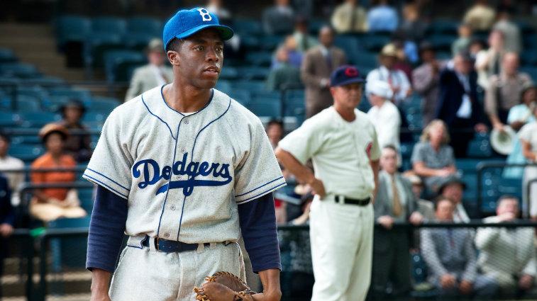 Chadwick Boseman in 42