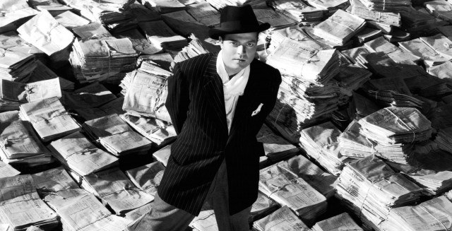 Orson Welles as Charles Foster Kane in 'Citizen Kane'.