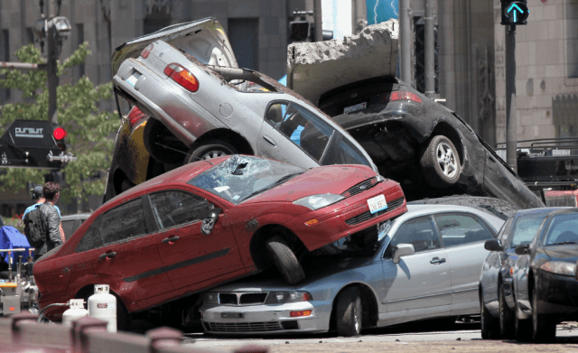 A massive car pileup