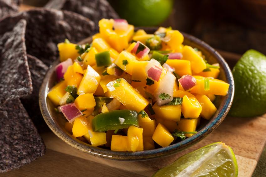 Mango Salsa in a bowl