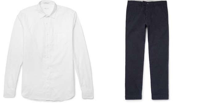 Gant Rugger oxford and Officine Generale chinos at Mr. Porter