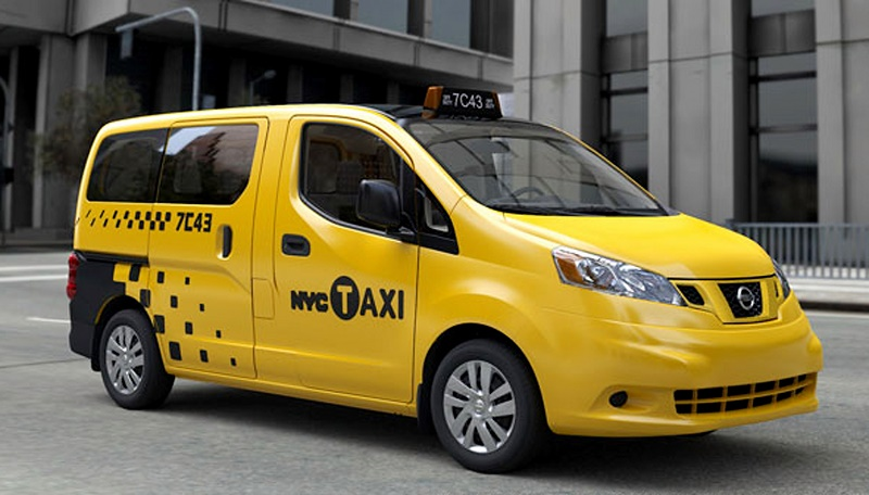 A Nissan NV200 is seen as a New York City taxi cab in New York City.