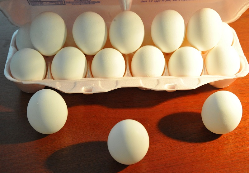 Eggs sit in an egg carton in Washington, DC after a 2010 recall | Karen Bleier/AFP/Getty Images