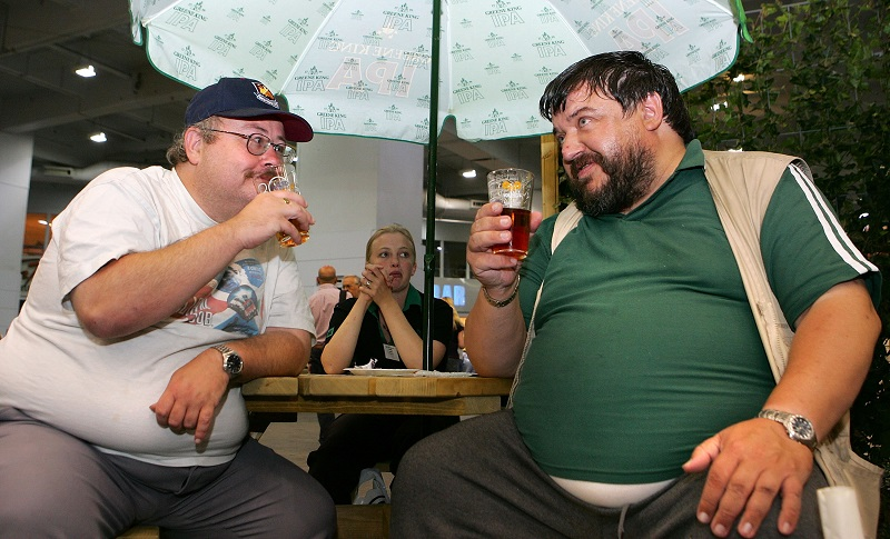 Overweight drinkers increase their cancer risk sample various beers at a London beer festival   Cate Gillon/Getty Images