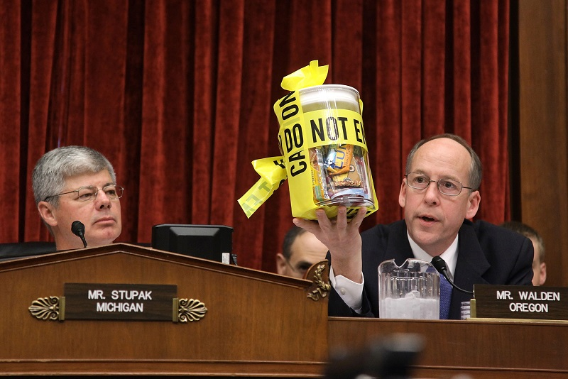 Members of Congress question Stewart Parnell, owner and president of the Peanut Corporation of America in 2009