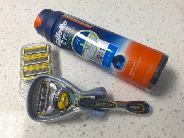Razor with shaving cream and replacement blades