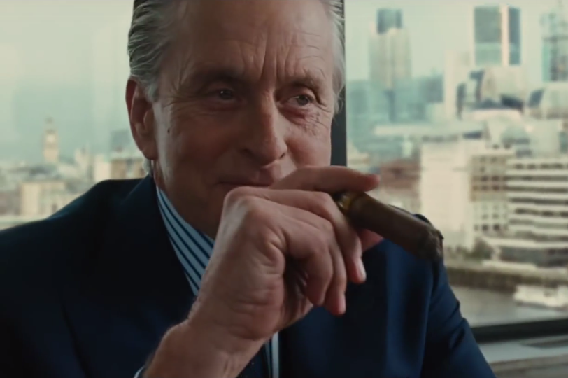 Gordon Gekko in Wall Street, greedy