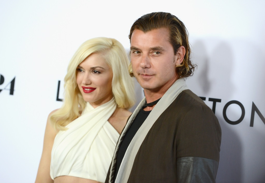 Gwen Stefani and Gavin Rossdale smile on the red carpet together