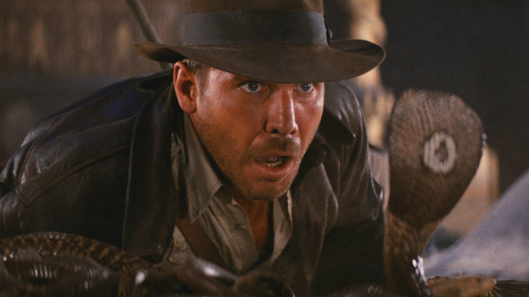 Harrison Ford in Raiders of the Lost Ark