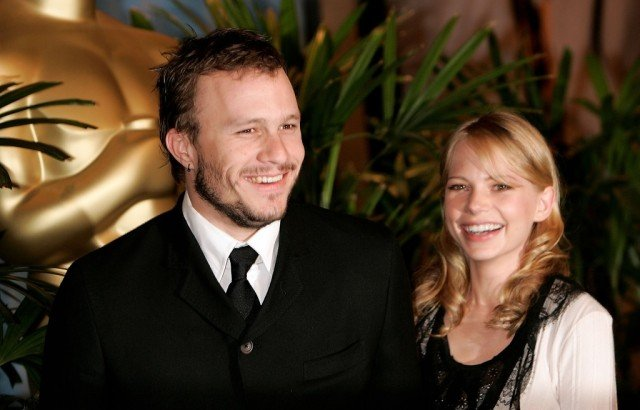 Heath Ledger and Michelle Williams at an event together.