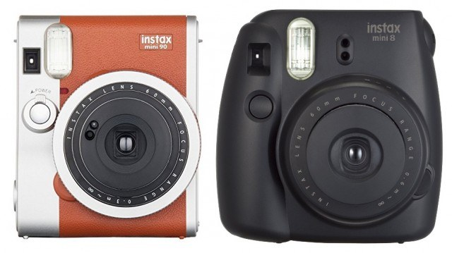 Instax Mini 90 Neo Classic and Instax Mini 8 - Polaroid camera