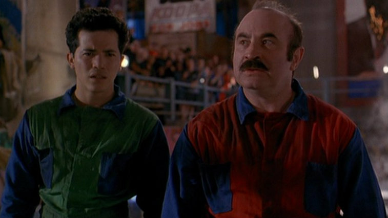 John Leguizamo and Bob Hoskins in Super Mario Bros