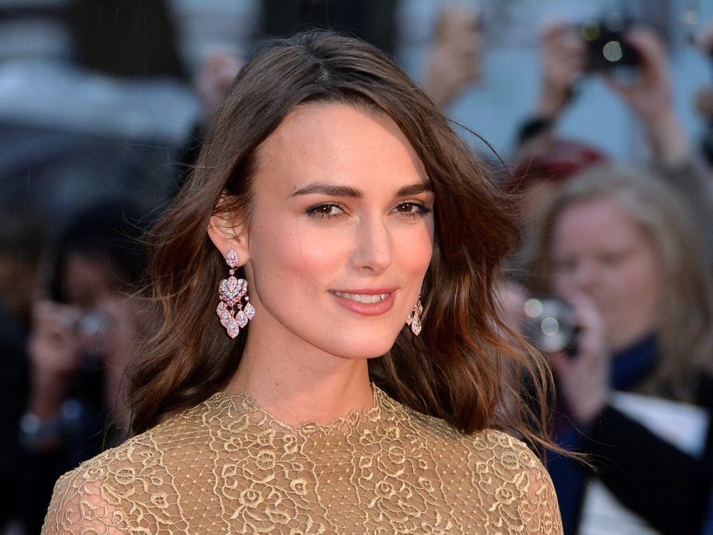 Keira Knightley smiling on the red carpet