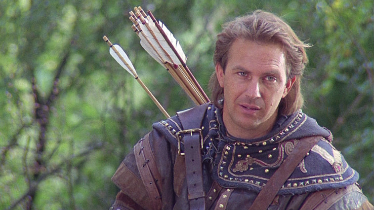 Kevin Costner in Robin Hood Prince of Thieves, lead actor