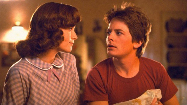 Lea Thompson and Michael J. Fox in Back to the Future