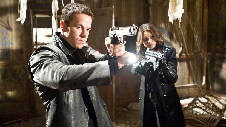 Mark Wahlberg and Mila Kunis in Max Payne
