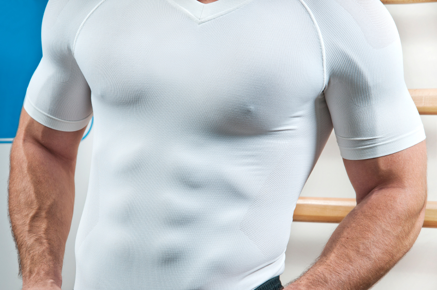 man with muscular wearing white shirt