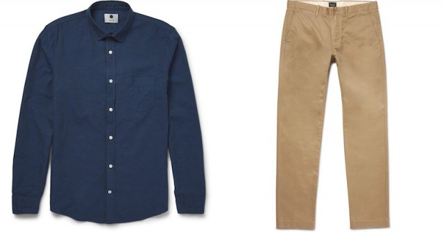 NN07 shirt and J.Crew chinos from Mr. Porter